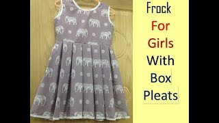 Box Pleated Frock for Girls|| Part-1|| Easy Method ||By Stitching MadeEasy