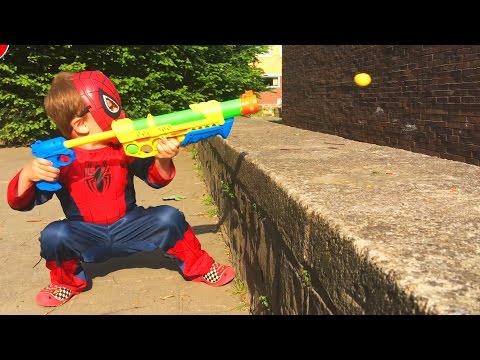 ЛитлБой Адам Человек Паук Открывает Игрушки Пистолет для Мальчиков