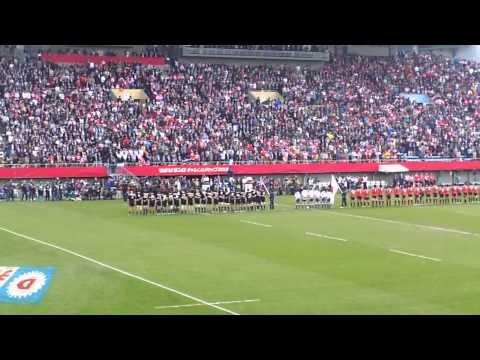 National Anthems, New Zealand and Japan.  All Blacks vs Japan, Nov.2 2013.