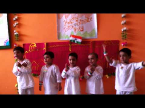 Kids performing on I love my India in Lilliput Joyland Pre school, Sonepat