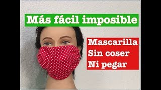 Como Hacer una MASCARILLA con Tela /DIY/How to Make a Mask With Easy Fabric