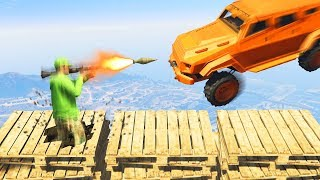 MILE HIGH BREAKABLE PLATFORM CHALLENGE! (GTA 5 Funny Moments)