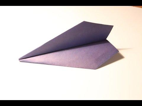 """Оригами. Самолет из бумаги """"Ястреб"""" (летающий самолет)"""