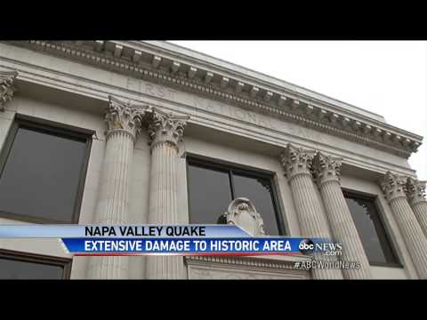 Earthquake Damage to Popular Napa, California, Tourist Destination