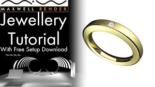 Maxwell Render Jewellery/Product Packshot Tutorial With Free Setup Download