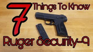 7 Things to Know: Ruger Security-9