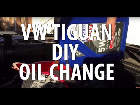 Volkswagen VW Tiguan 2.0T TSI Oil Change Detail Instructions Using Race Ramps