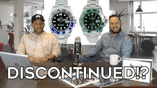 Rolex Discontinuing the Batman and Hulk