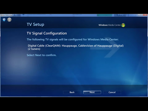How To Get Cable Television on Windows Media Center