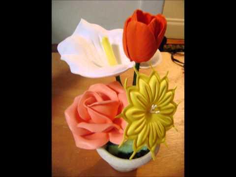 Como hacer flores en foami video - Imagui