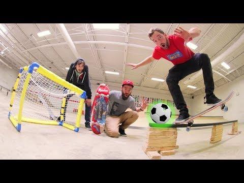 Epic Soccer Skateboarding Trick Shots!