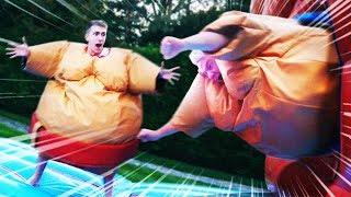MASSIVE SUMO SUIT OBSTACLE COURSE CHALLENGE RACE!