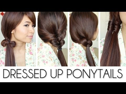 Quick & Easy Dressed Up Ponytail Hairstyles Hair Tutorial