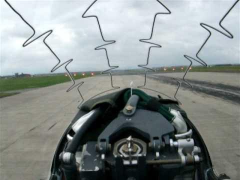 In cockpit - Take Off Hawk RAF Valley