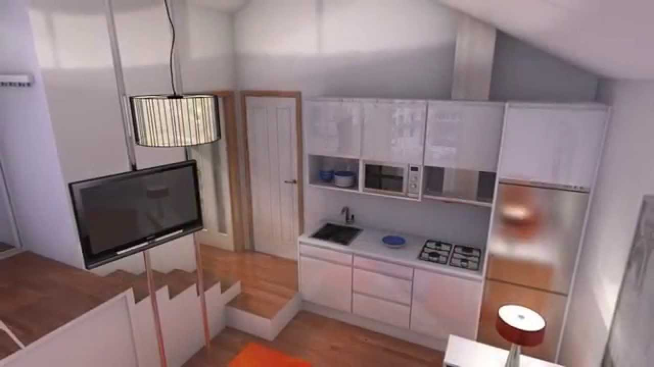 Minipiso 20m2 youtube for Decorar piso 20m2