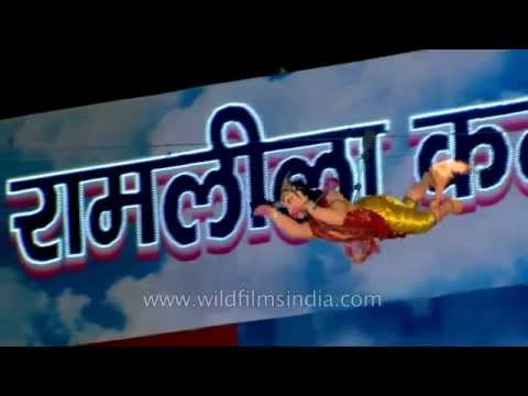 Hanuman Burns The Lankan Kingdom: Ramlila In Delhi video