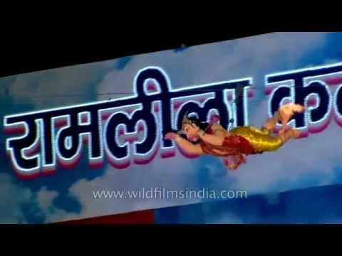 Hanuman Burns The Lankan Kingdom: Ramlila In Delhi video