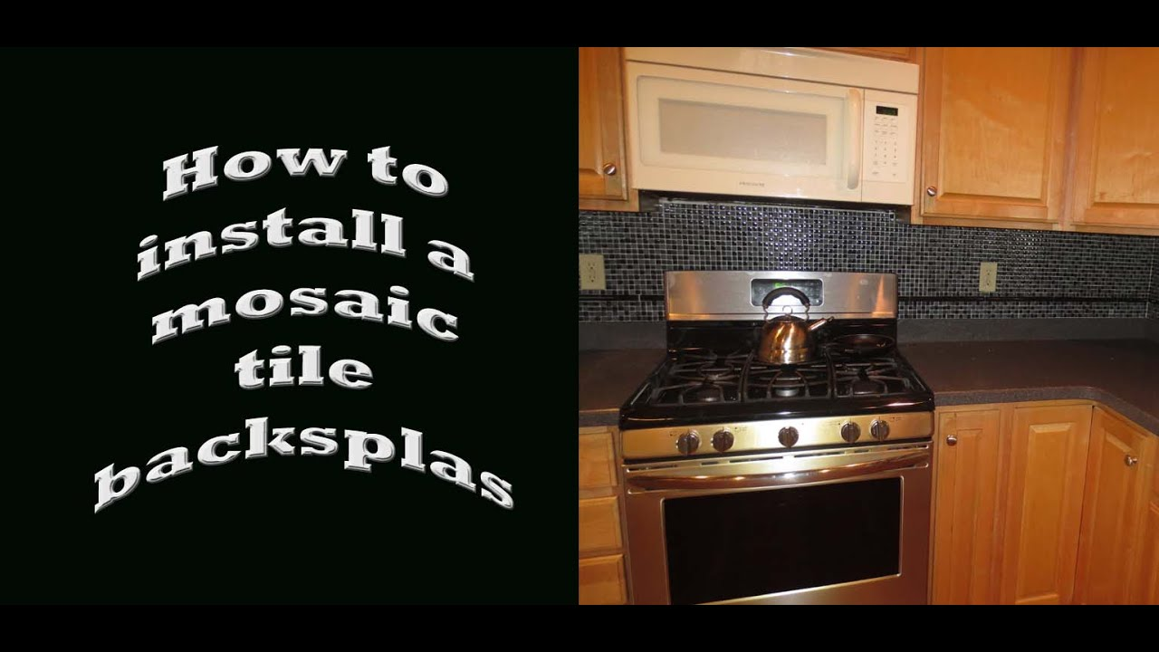 How to install kitchen backsplash tile