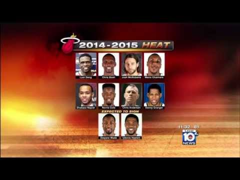 July 14, 2014 - WPLG - Miami Heat Officially Sign Josh McRoberts, Danny Granger, and Mario Chalmers