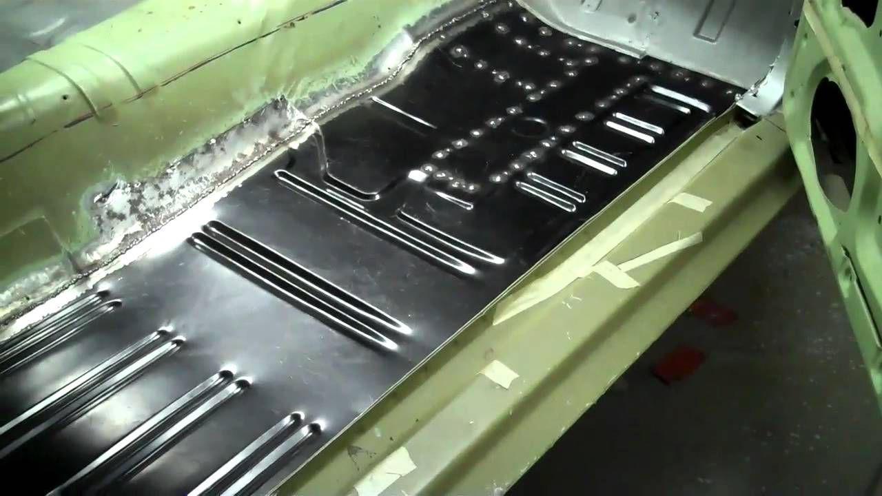 Mustang Progress 2 11 12 Floor Welded In Youtube