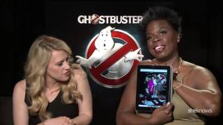 The cast of Ghostbusters reacts to behind the scenes photos
