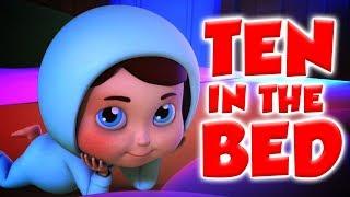mười trên giường | bài hát cho em bé | trẻ em vần | Ten In The Bed | Nursery Song | Children Rhyme
