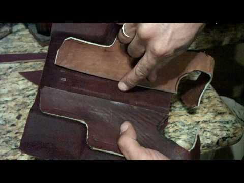 How To Make A Homemade. Hand Stitched. Custom Leather Glock Holster. Part 2