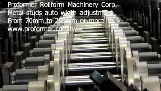 metal studs auto width adjustment roll forming machine