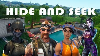 FORTNITE HIDE AND SEEK #2 - Ft. Rick Linda Liam (Playground Minigame)
