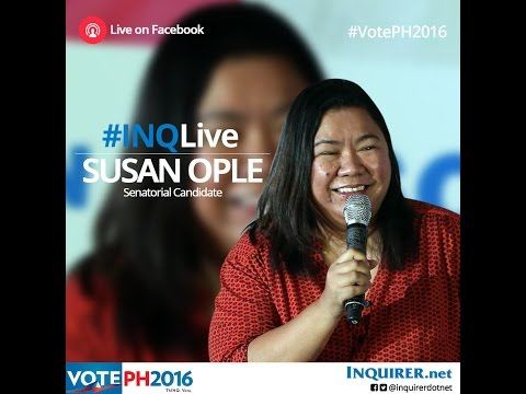 #INQLive with Susan Ople