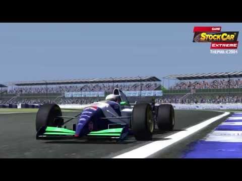 Game Stock Car Extreme - Formula 1 V12 (F1 - 1995 Skins) no Circuito de Silverstone, Inglaterra - British Grand Prix 1995. Algumas voltas com a Jordan 195 de...