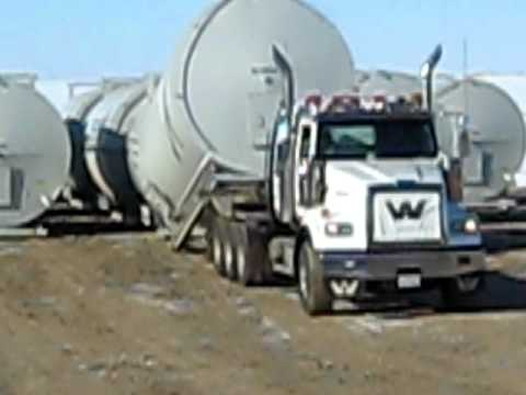 Texas Bed Raising a Tank Farm - Alberta - Oilfield