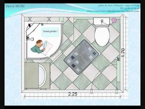 Une salle de bains minuscule youtube - Minuscule salle de bain ...