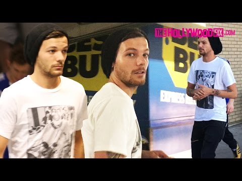 Louis Tomlinson Of One Direction Steals A Pap's Phone & Gives It Away At Best Buy 6.26.16