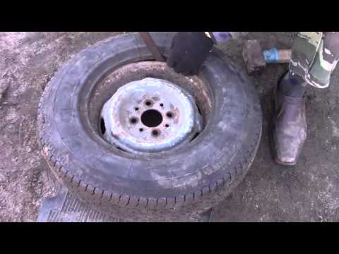 Разбортирование колеса своими руками
