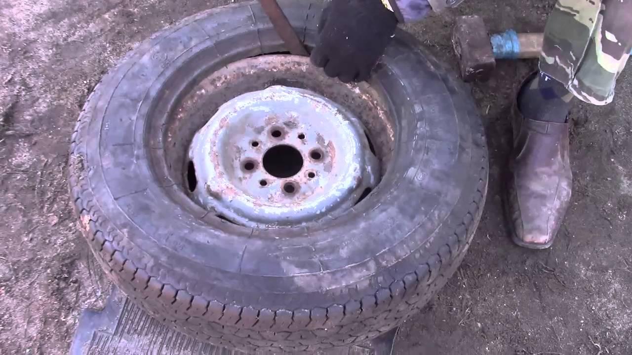 Разбортировать колесо своими руками газель 966