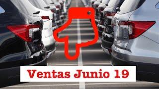 Ventas coches híbridos Junio 2019 en España