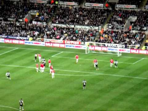 Newcastle V man United - Cabaye Free Kick