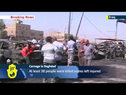 Iraq's deadly sectarian conflict:  wave of car bombs kills at least 38 in Baghdad