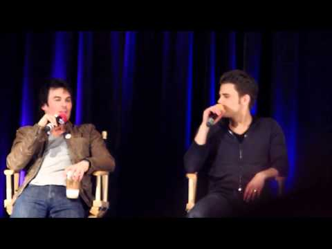 Ian Somerhalder & Paul Wesley - TVD Chicago 2013 - What about each other is annoying?