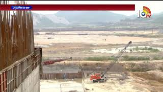 స్పిల్ వే 48 పిల్లర్ల నిర్మాణ పనుల్లో వేగం...| Spillway Construction Work With 48 Pillar