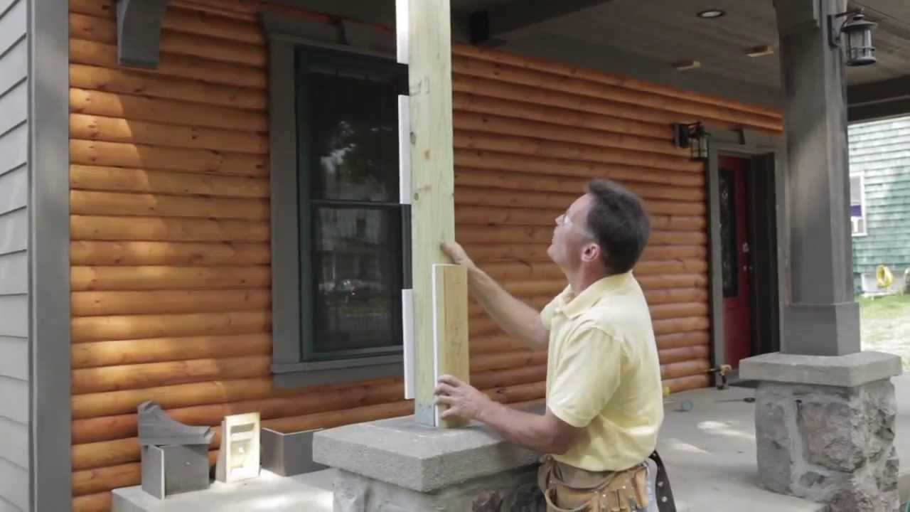 Fypon Column Wrap Installation Part 1 Youtube
