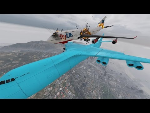 Mid Air Crash Cargo Plane VS 747 GTA 5