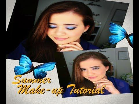 Summer Make-up Tutorial (モルフォ蝶のような夏メイク)