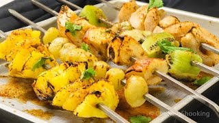 Grilled Fruit Chaat Recipe | Grilled Fruit Chaat Recipe | Vegetarian Tandoori Recipes at Home
