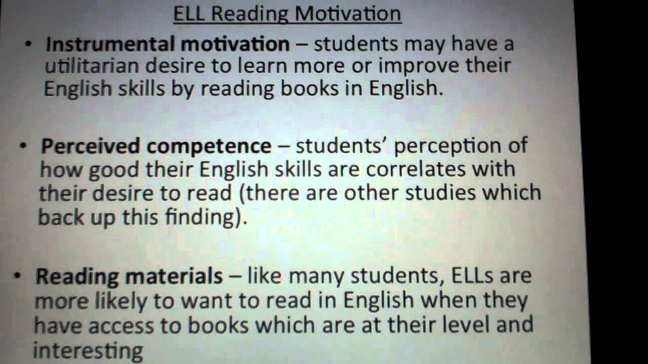 English Learners Reading English Language Learners'