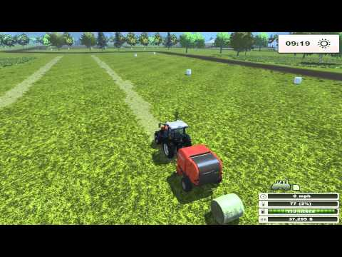 Farming Simulator 2013 - Ursus add-on - Grass bailing and wrapping