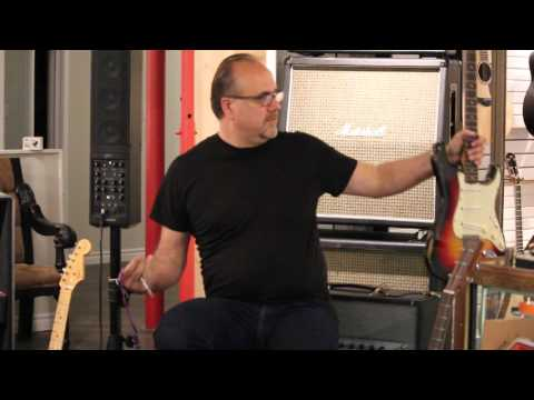 Greg Koch plays a real 1963 Fender Stratocaster at The Guitar Shop in Mississauga Ontario Canada