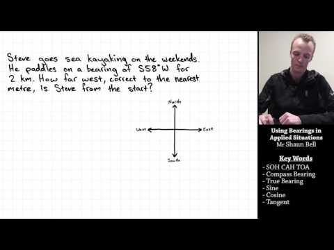 Trigonometry: Using Bearings in Applied Situations