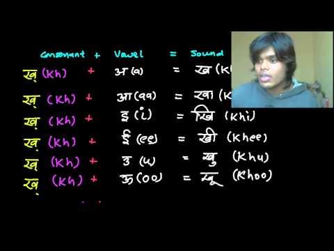 Reading & Writing Hindi Lesson 8 - Barakhadi 2 -  Kha, Khaa, Khi, Khee